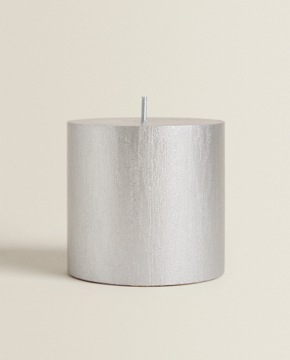 METALLIC CYLINDRICAL CANDLE