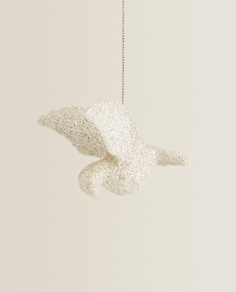 SPARKLY DOVE CHRISTMAS DECORATION