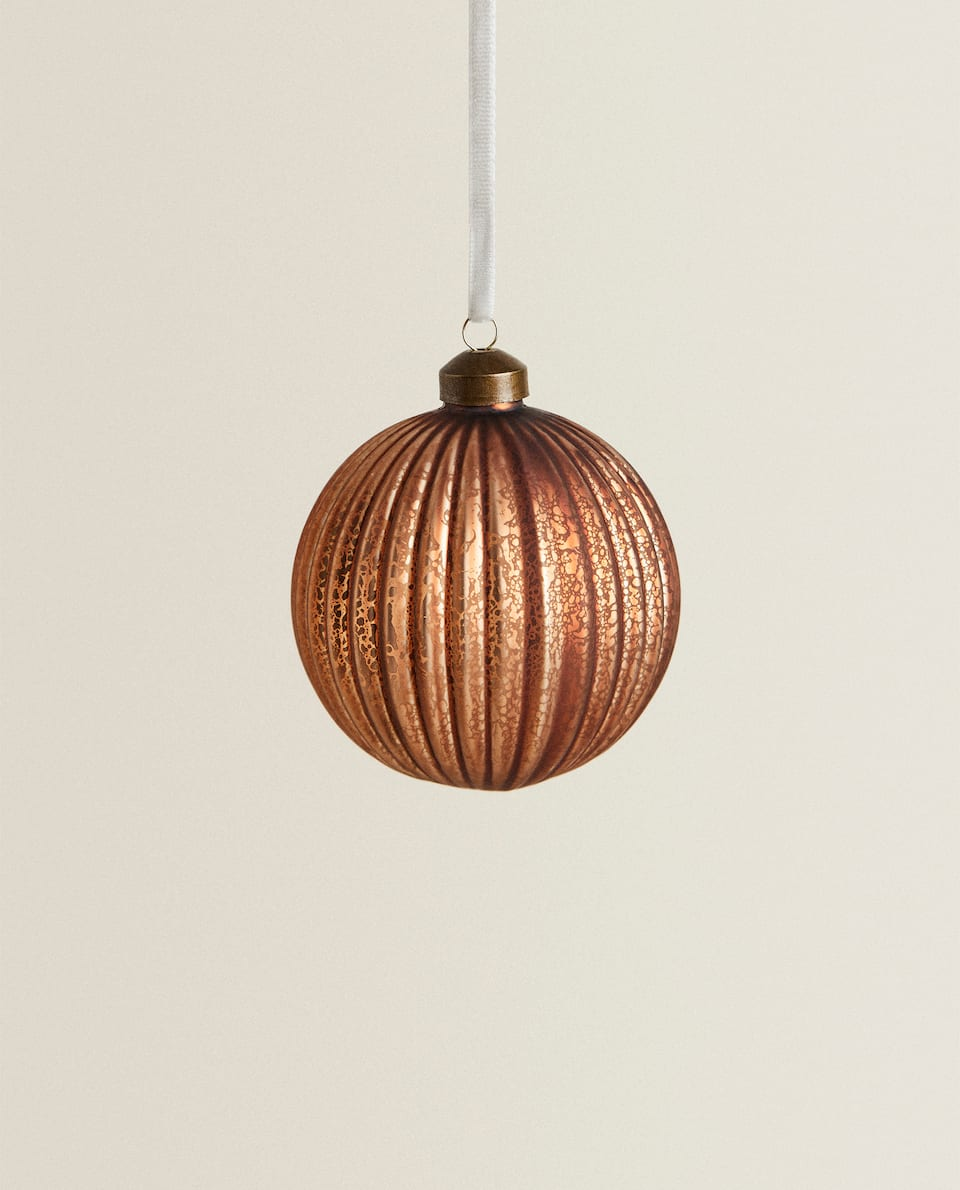 STRIPED CHRISTMAS TREE BAUBLE (PACK OF 2)