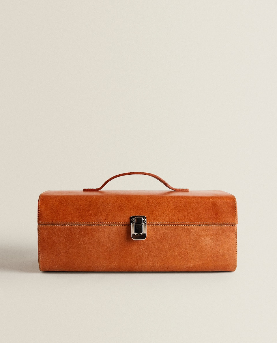 LEATHER BRIEFCASE BOX