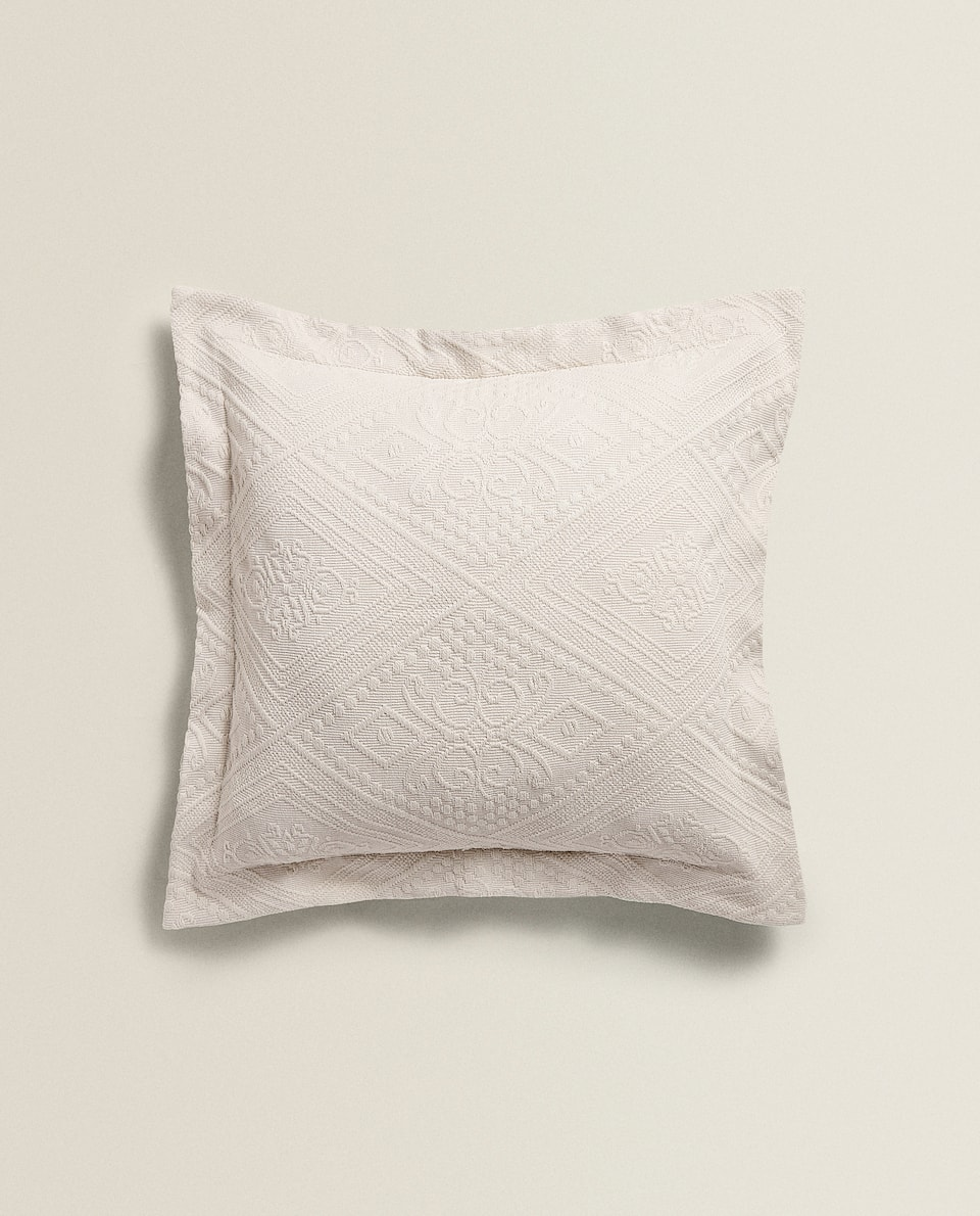GEOMETRIC JACQUARD PILLOW COVER