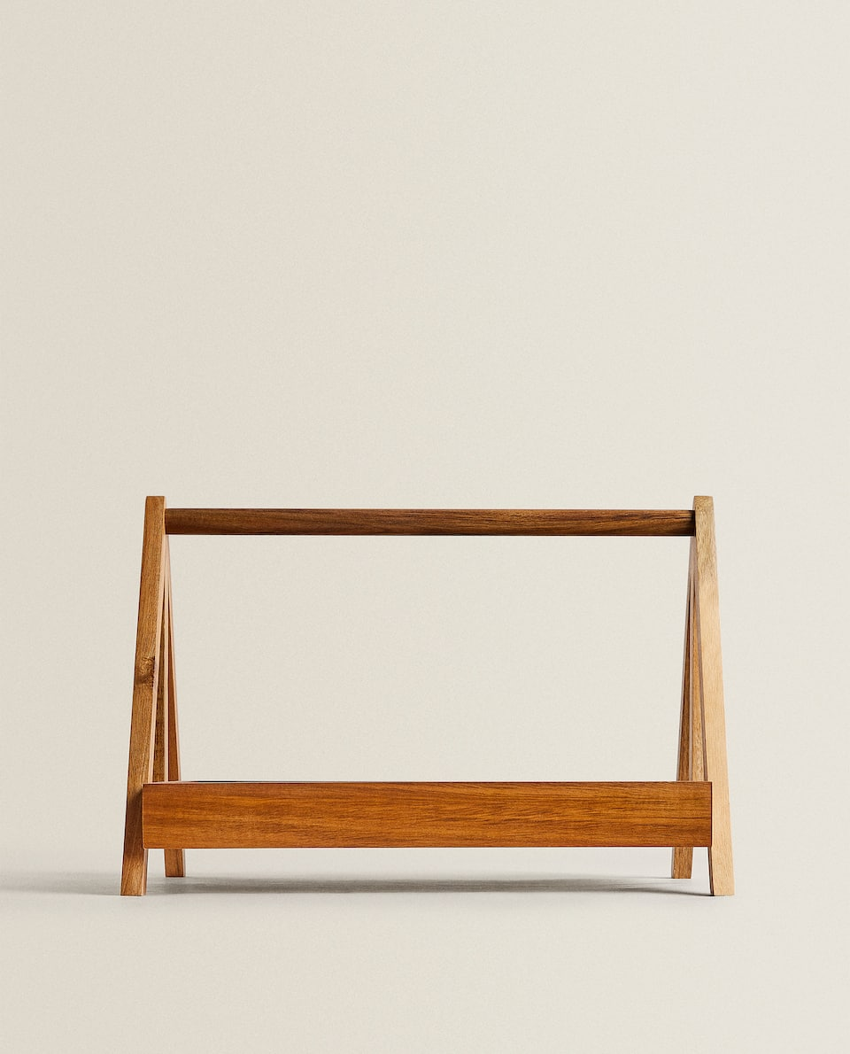 TALL WOODEN TRAY