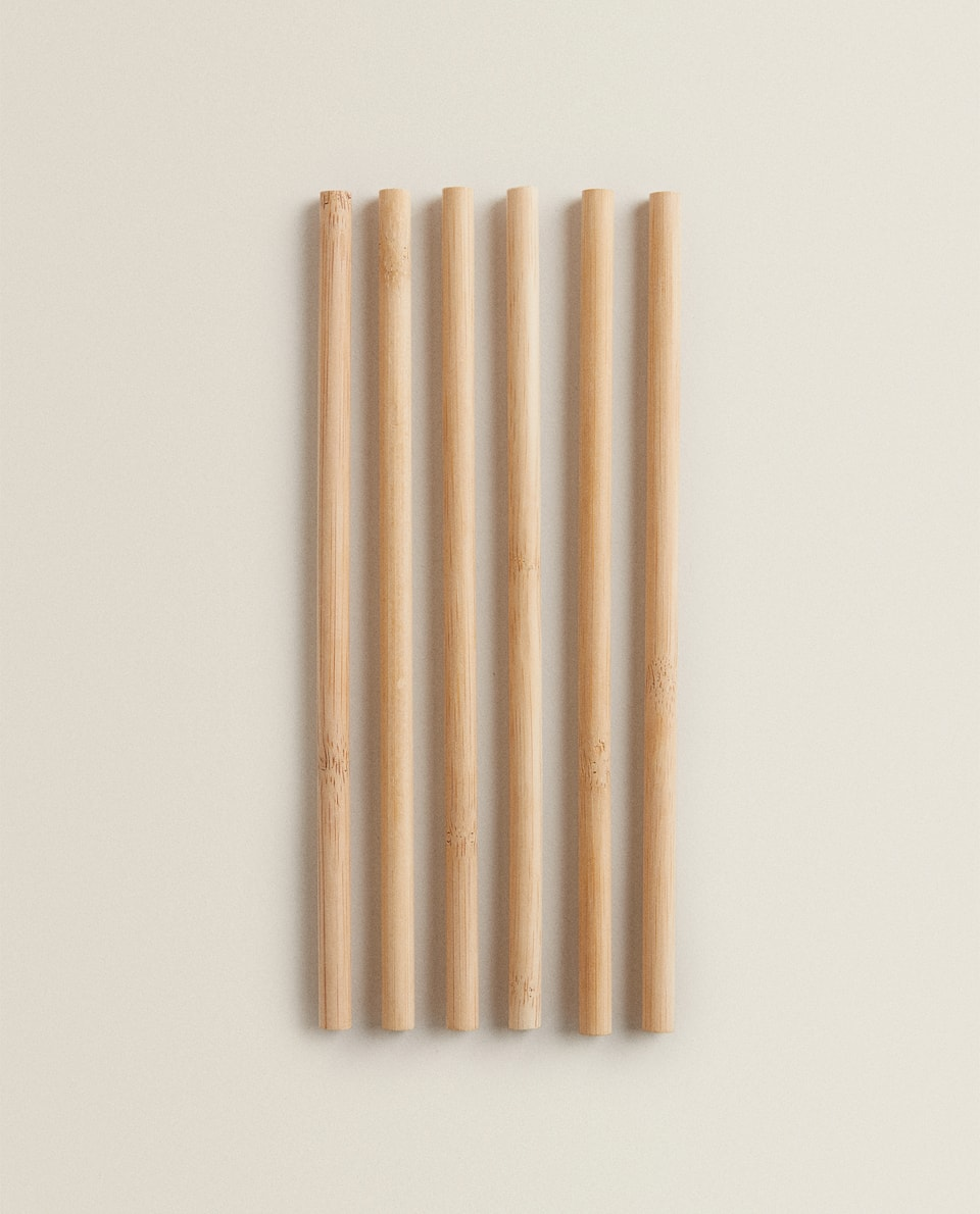 SET OF 6 BAMBOO STRAWS