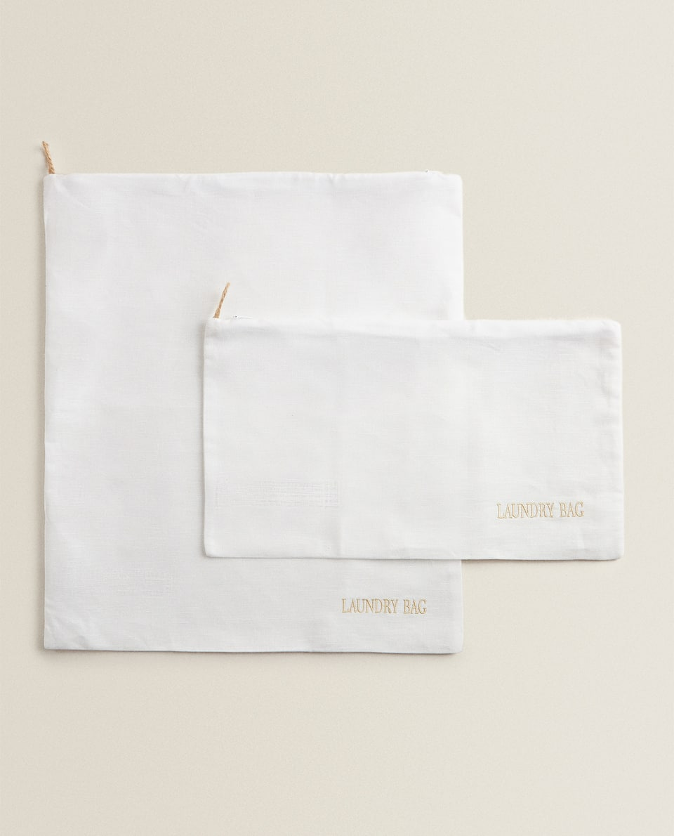 LINEN LAUNDRY BAGS (PACK OF 2)