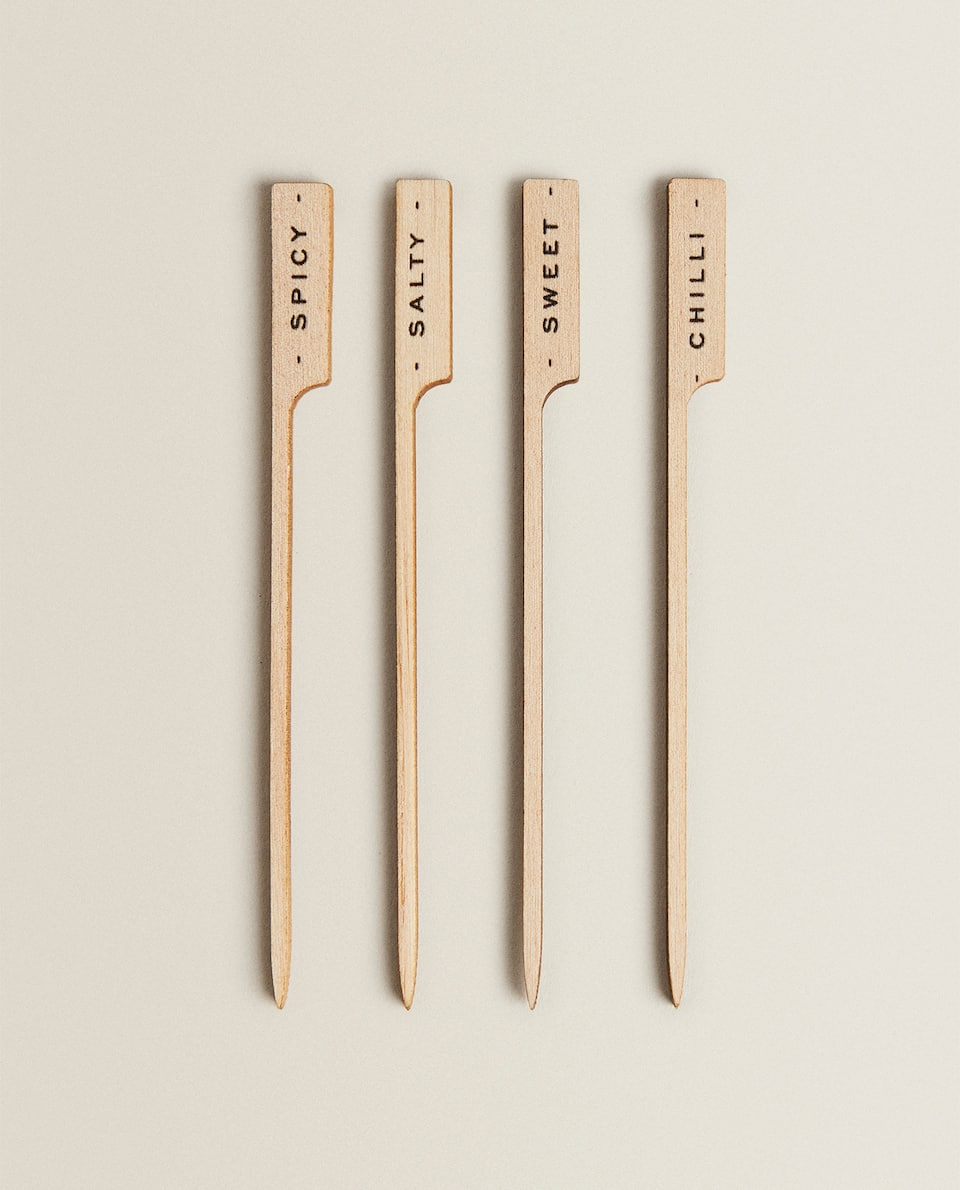 BARBECUE WOODEN COCKTAIL PICKS