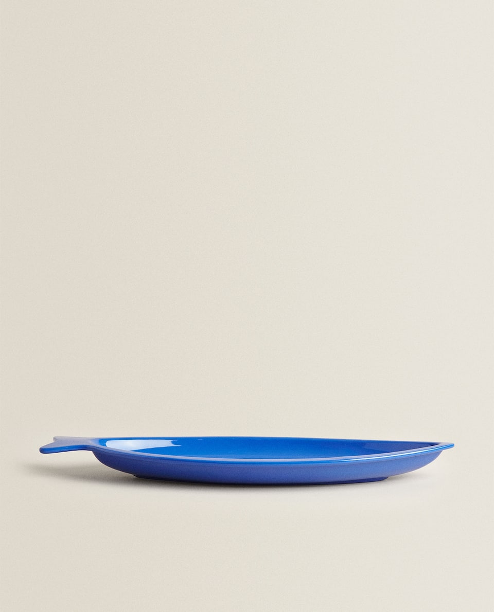 FISH-SHAPED MELAMINE SERVING DISH