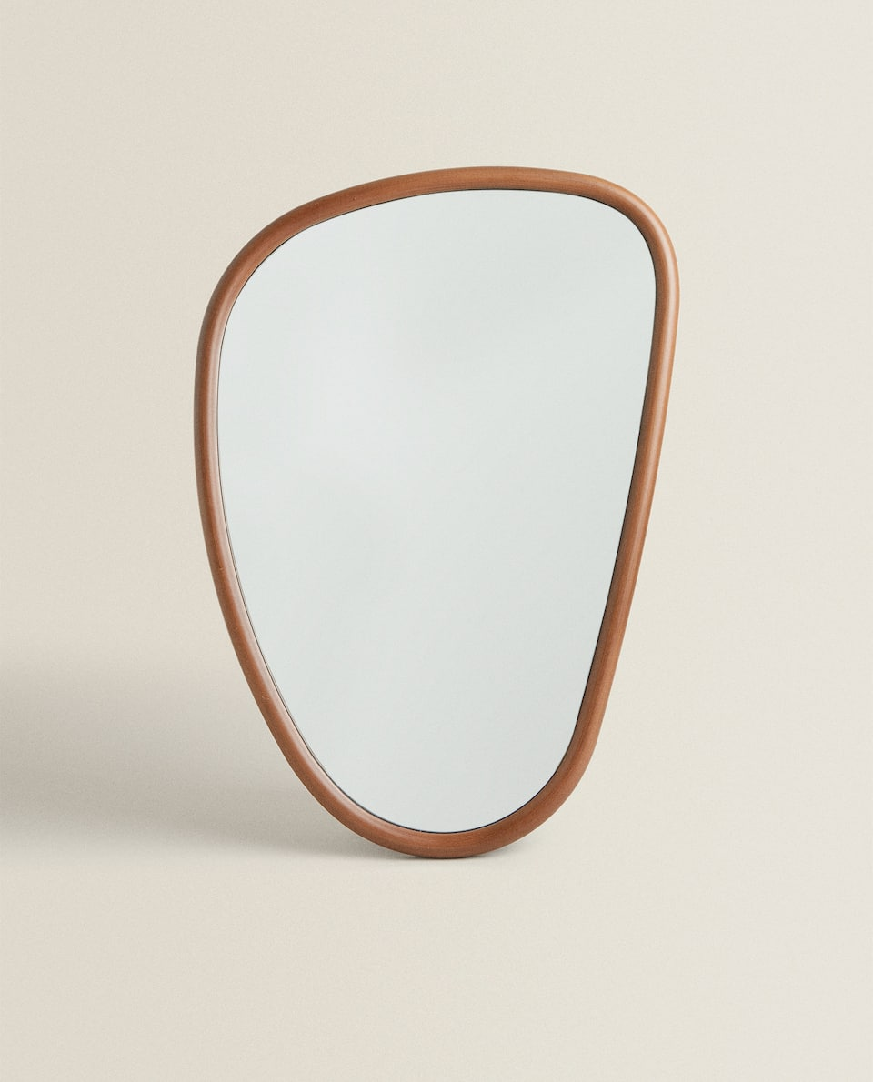 IRREGULAR WOODEN MIRROR