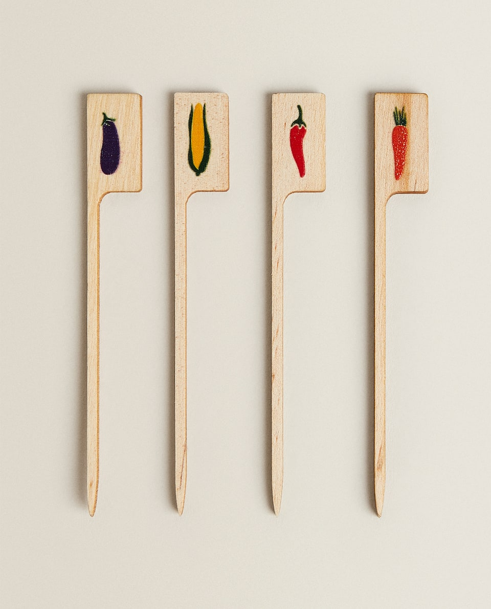 BARBECUE WOODEN VEGETABLE SKEWERS