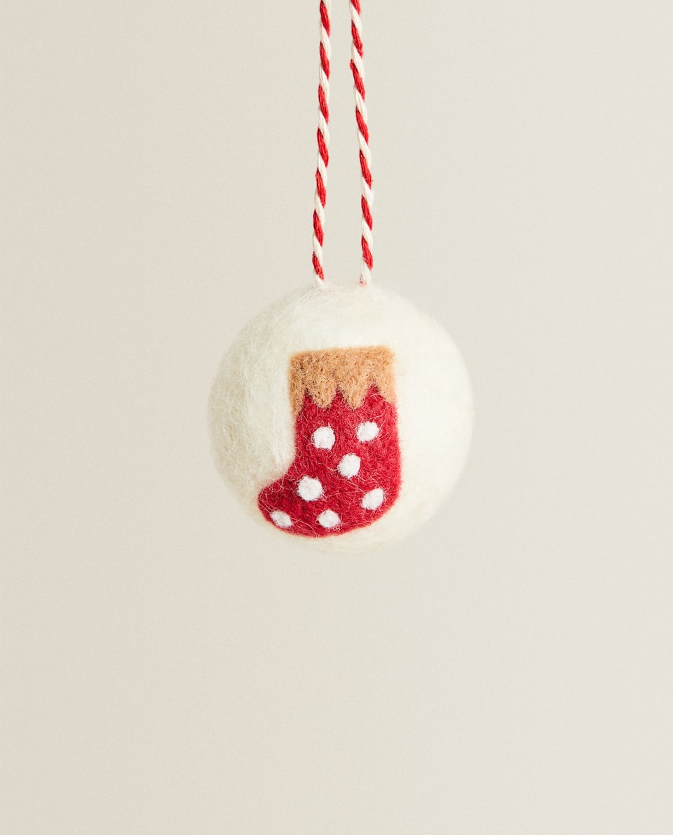STOCKING BAUBLE DECORATION