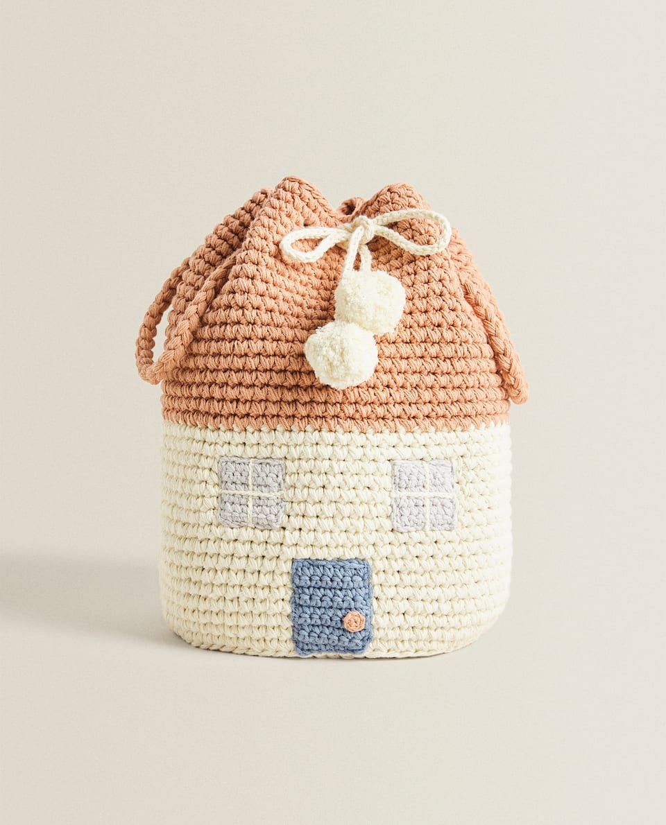HOUSE CROCHET BASKET
