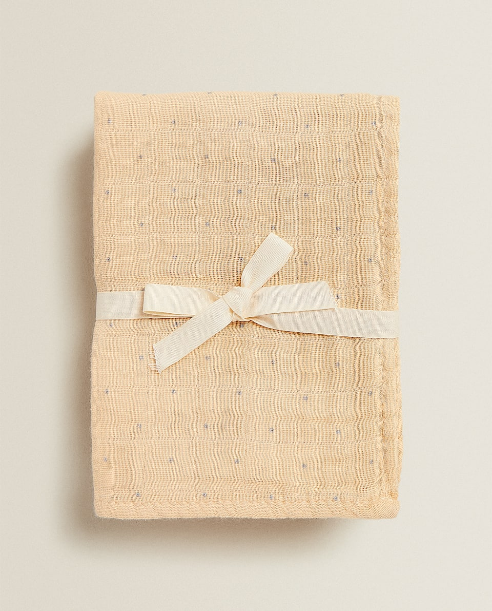 DOTTED MUSLIN CLOTH (PACK OF 3)