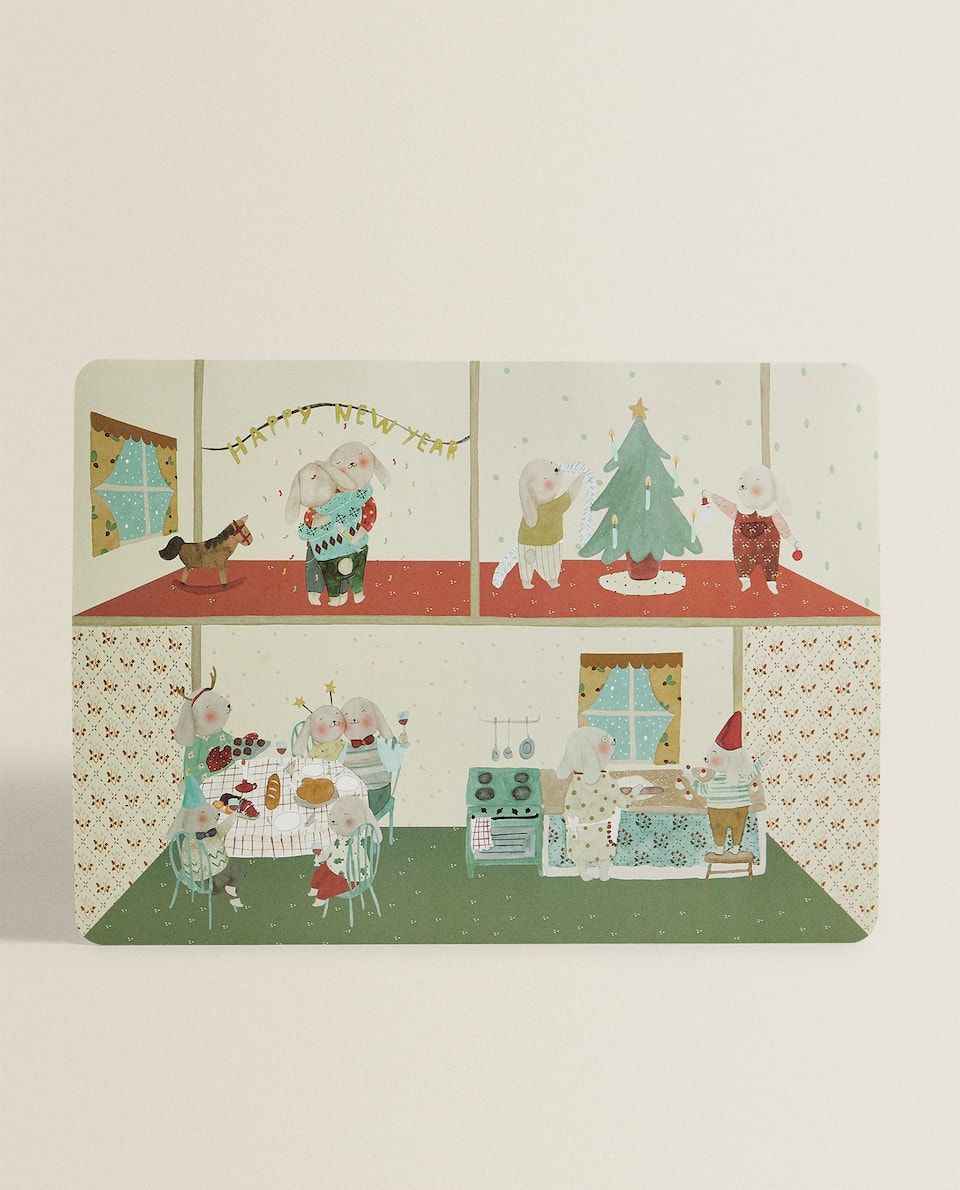 PLACEMAT WITH CHRISTMAS SCENE