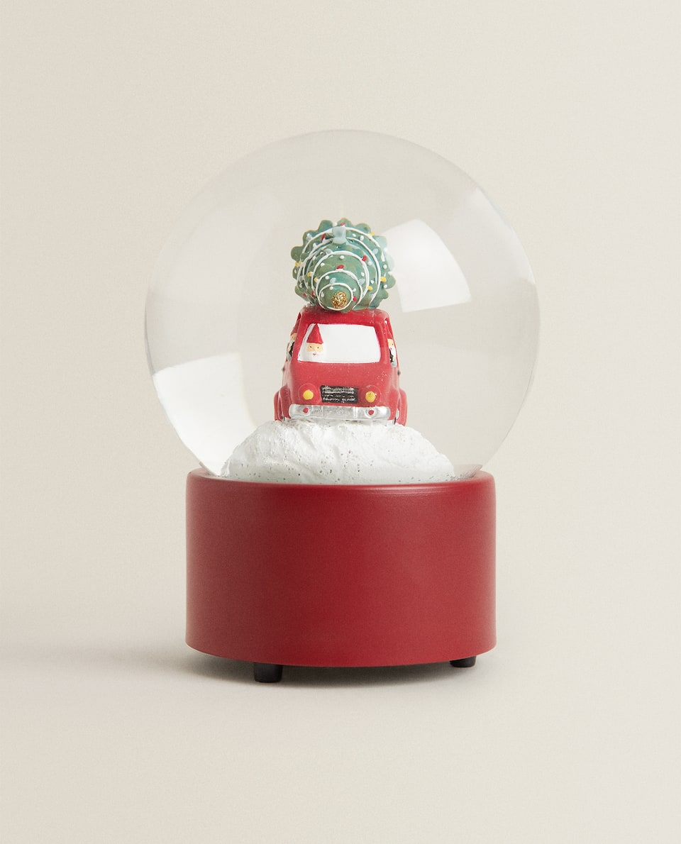 MUSICAL CHRISTMAS SNOW GLOBE DECORATION