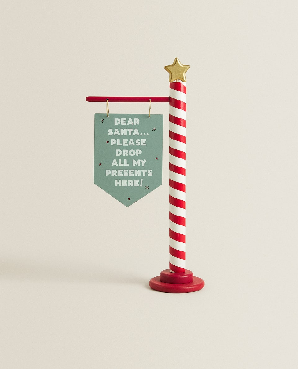 SIGN WITH SLOGAN CHRISTMAS DECORATION