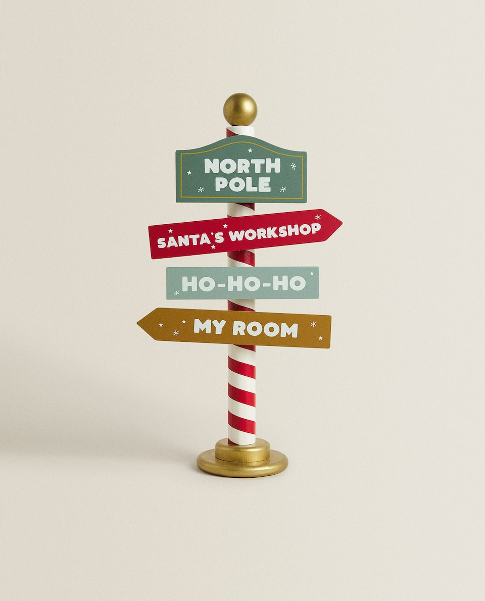 NORTH POLE SIGN CHRISTMAS DECORATION