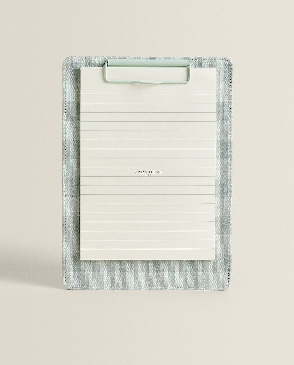 GINGHAM CLIPBOARD