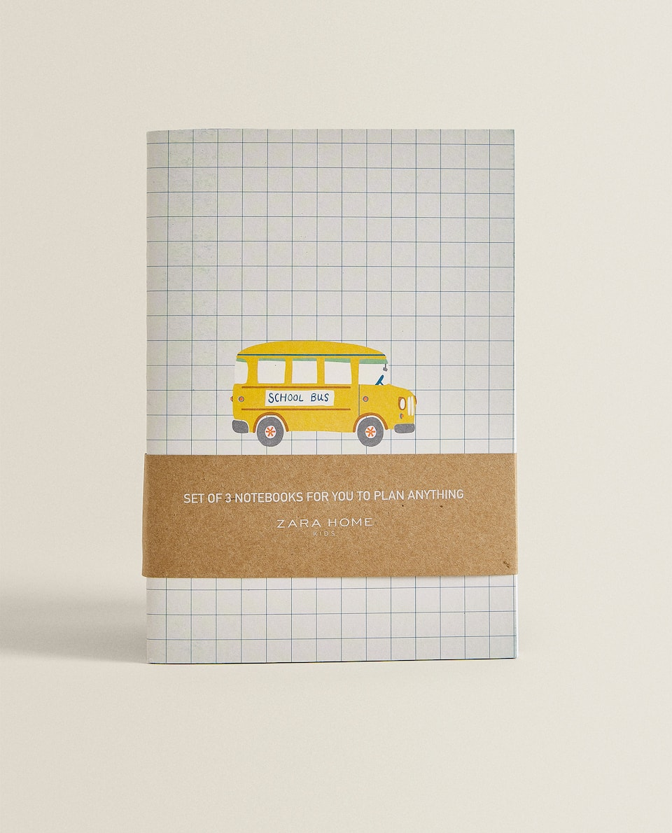 BUS NOTEBOOKS (PACK OF 3)