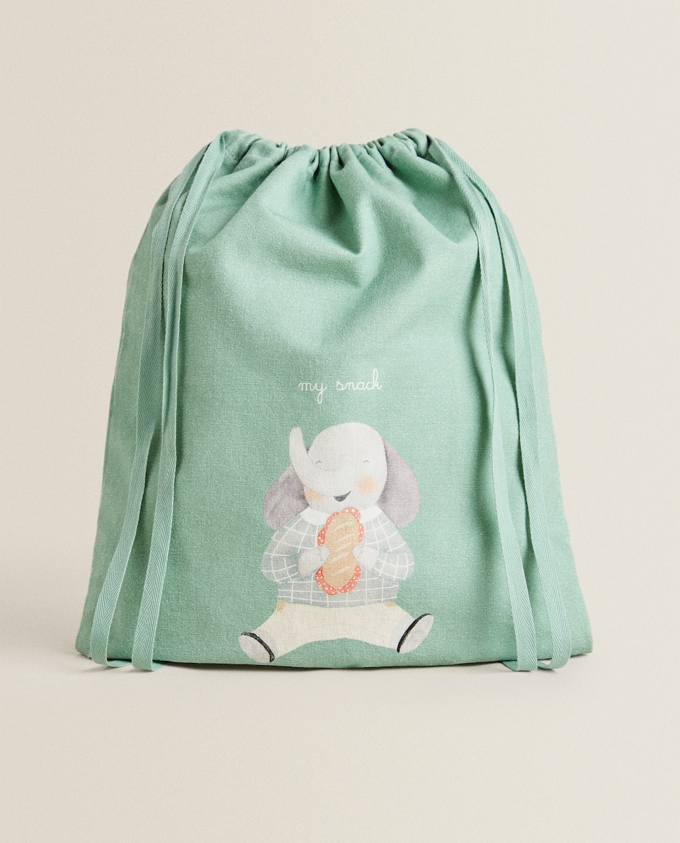 ELEPHANT PRINT SNACK BAG
