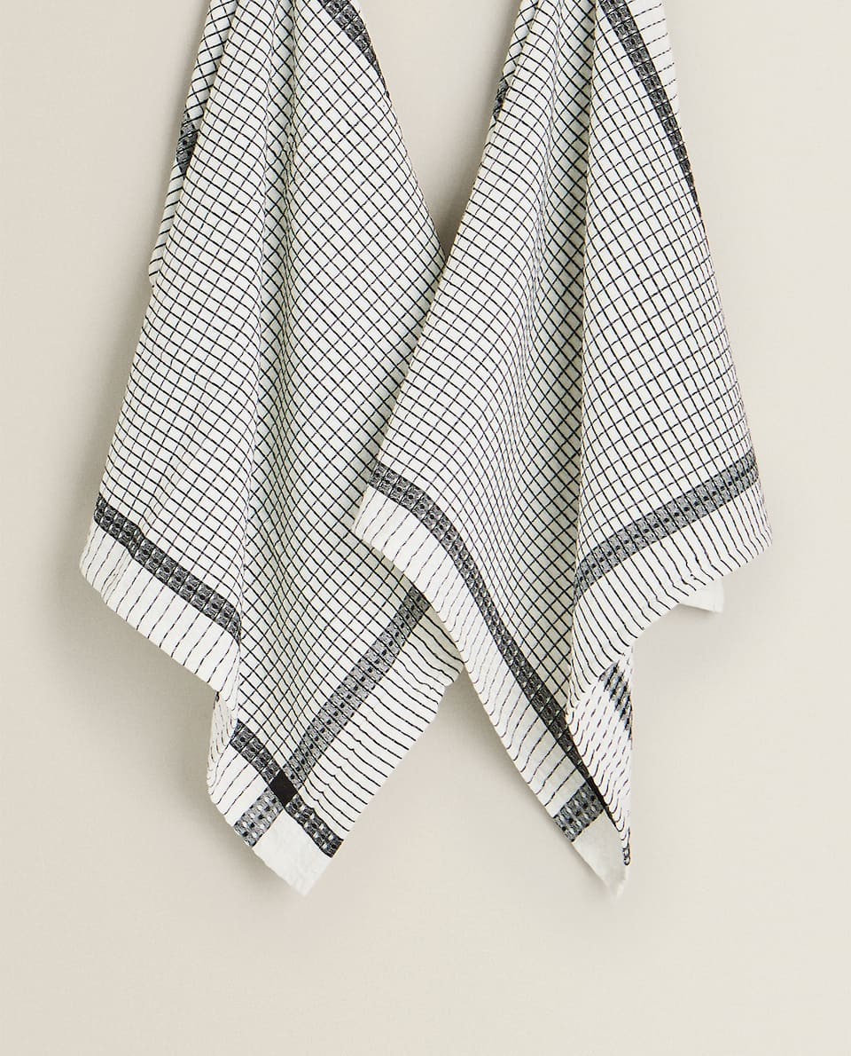 WAFFLE KNIT TEA TOWEL (PACK OF 2)