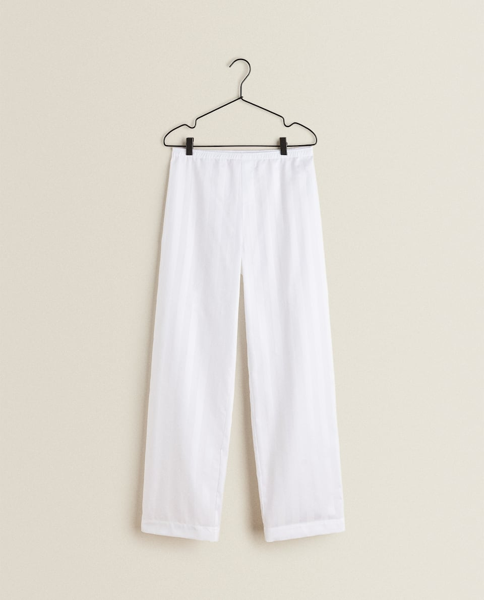 SATEEN PYJAMA TROUSERS