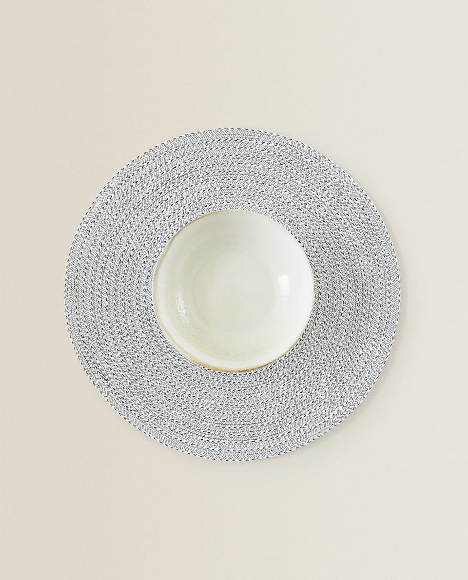 ROUND WOVEN PLACEMAT (PACK OF 2)
