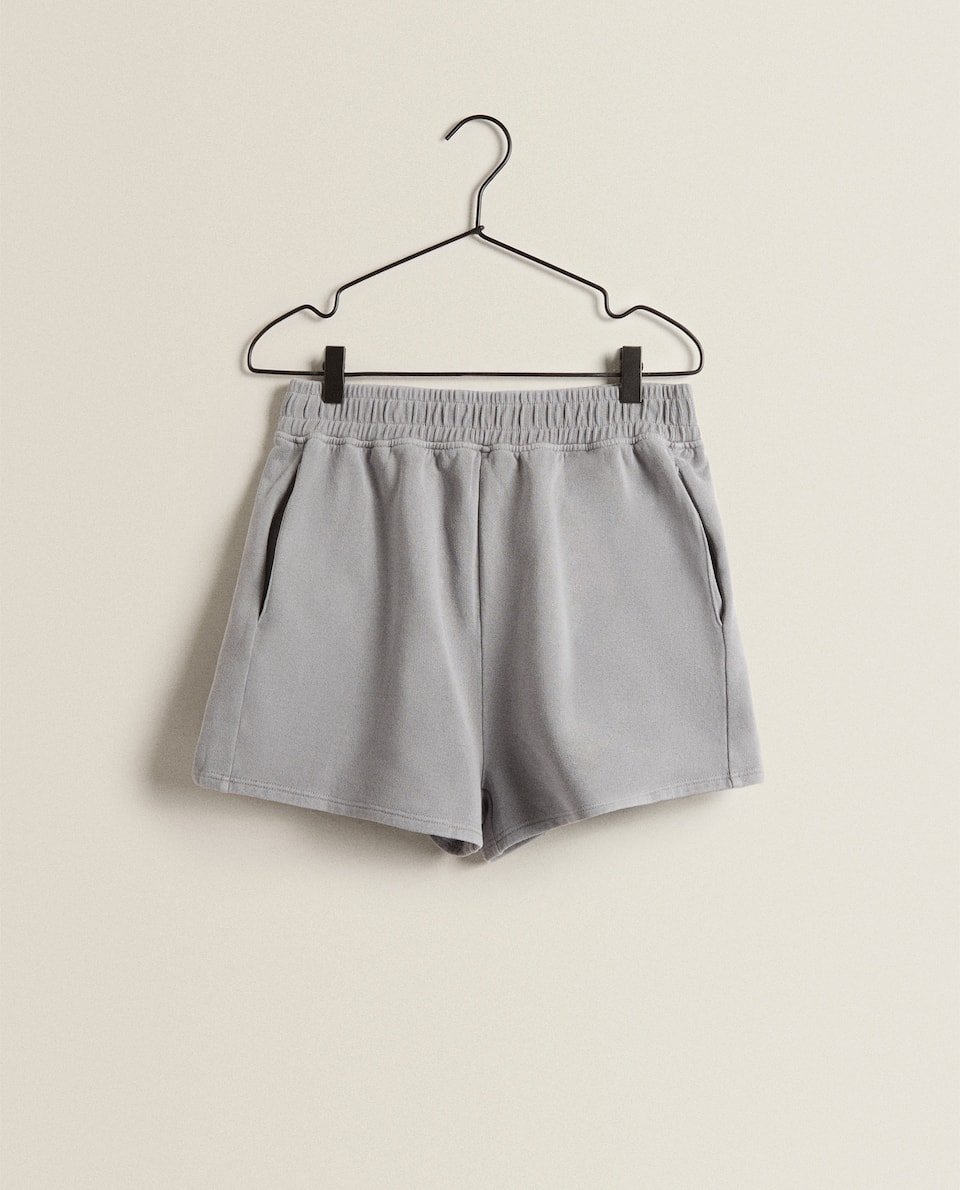 WASHED COTTON SHORTS
