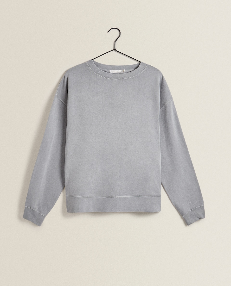 OVERSIZED COTTON SWEATSHIRT