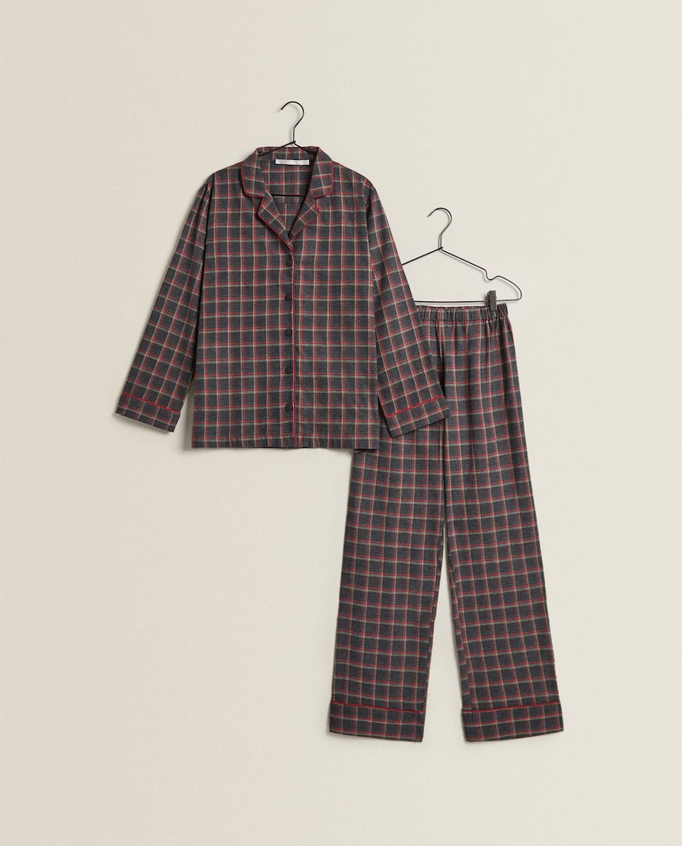 WOMEN'S CHECK PYJAMAS