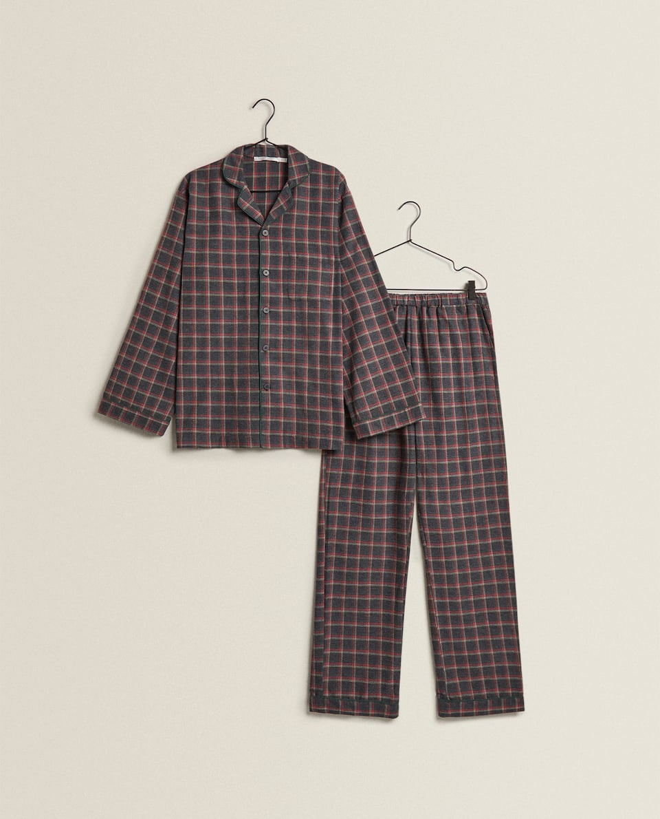 MEN'S CHRISTMAS CHECK PYJAMAS