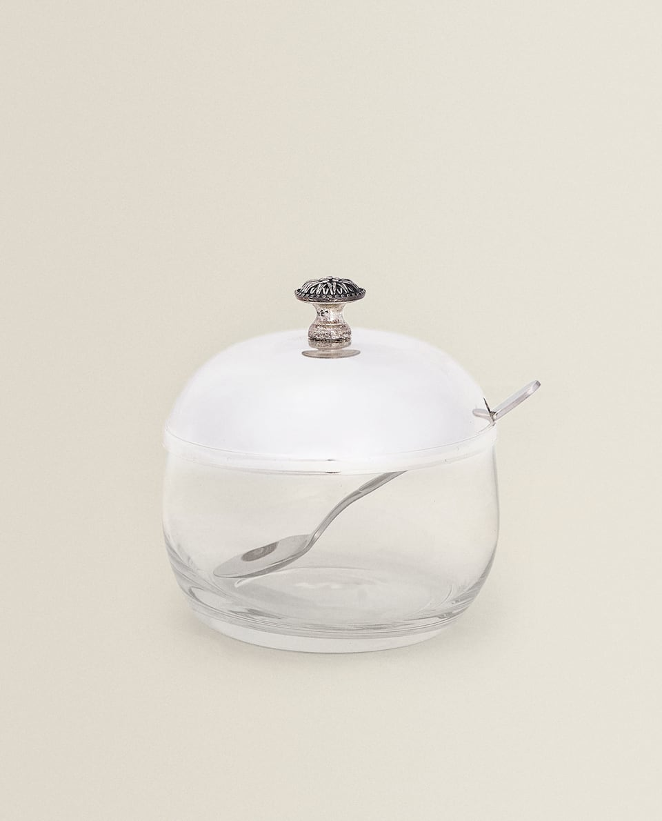 CLASSIC SUGAR BOWL WITH SPOON
