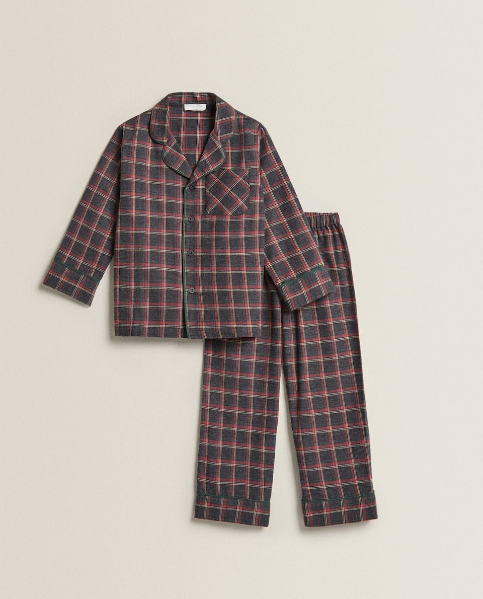 BOY'S CHRISTMAS CHECK PYJAMAS