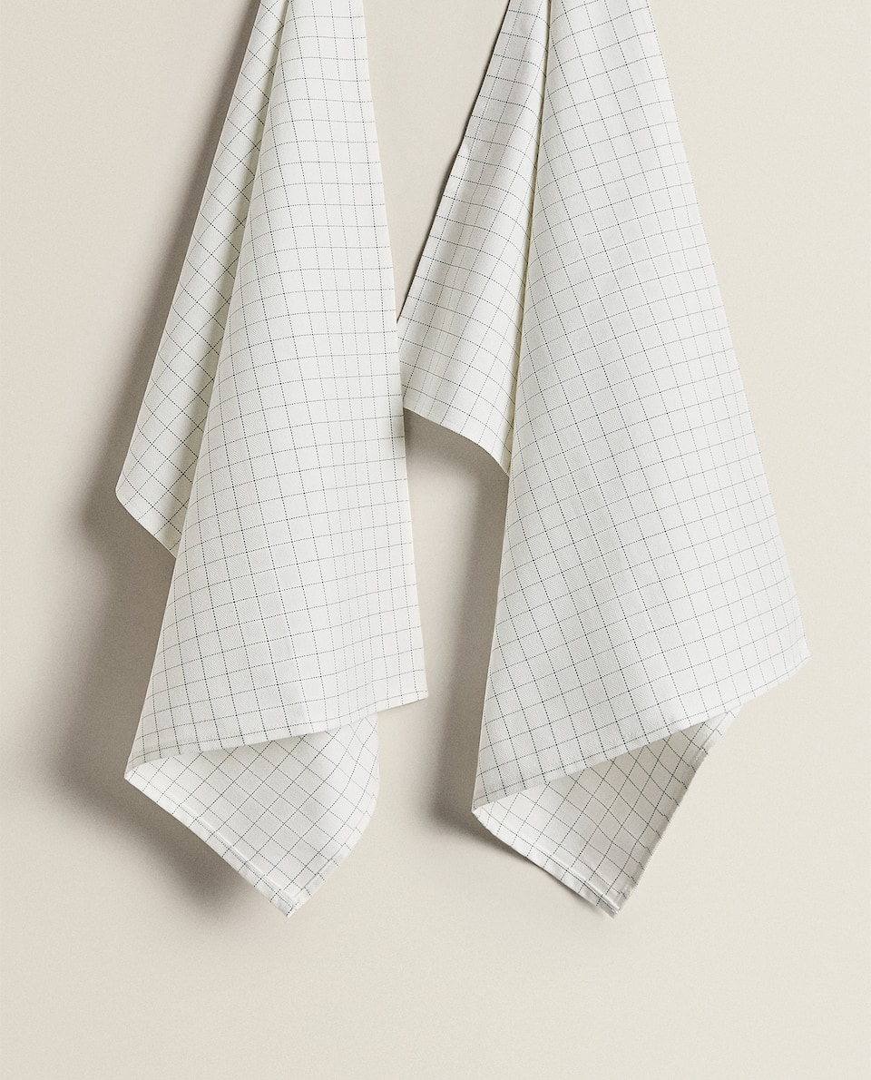 CHECK PRINT KITCHEN TOWEL (PACK OF 2)