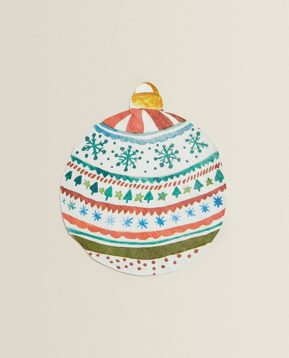 CHRISTMAS BAUBLE PAPER NAPKINS (PACK OF 20)