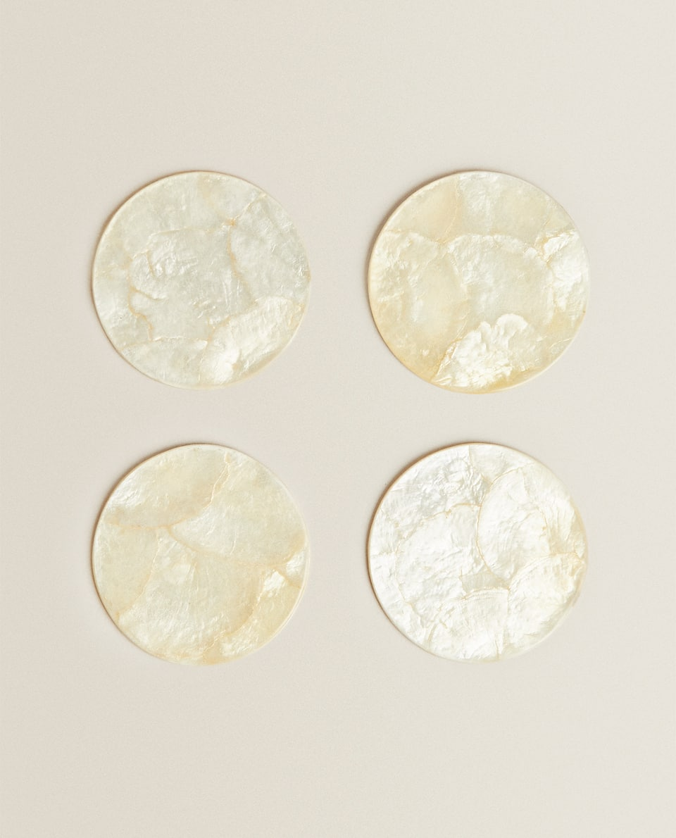MOTHER-OF-PEARL COASTER (PACK OF 4)