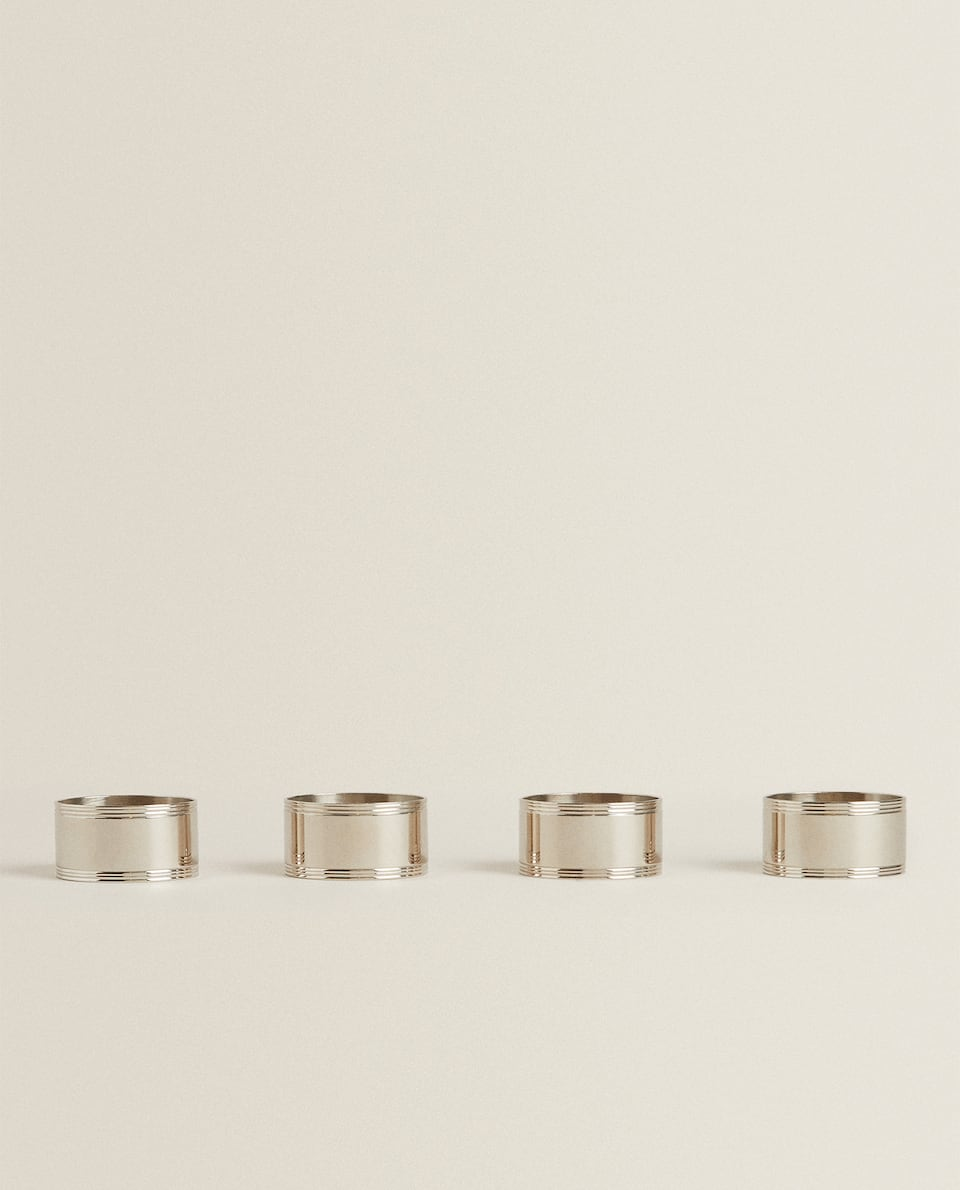 BRASS NAPKIN RINGS (PACK OF 4)