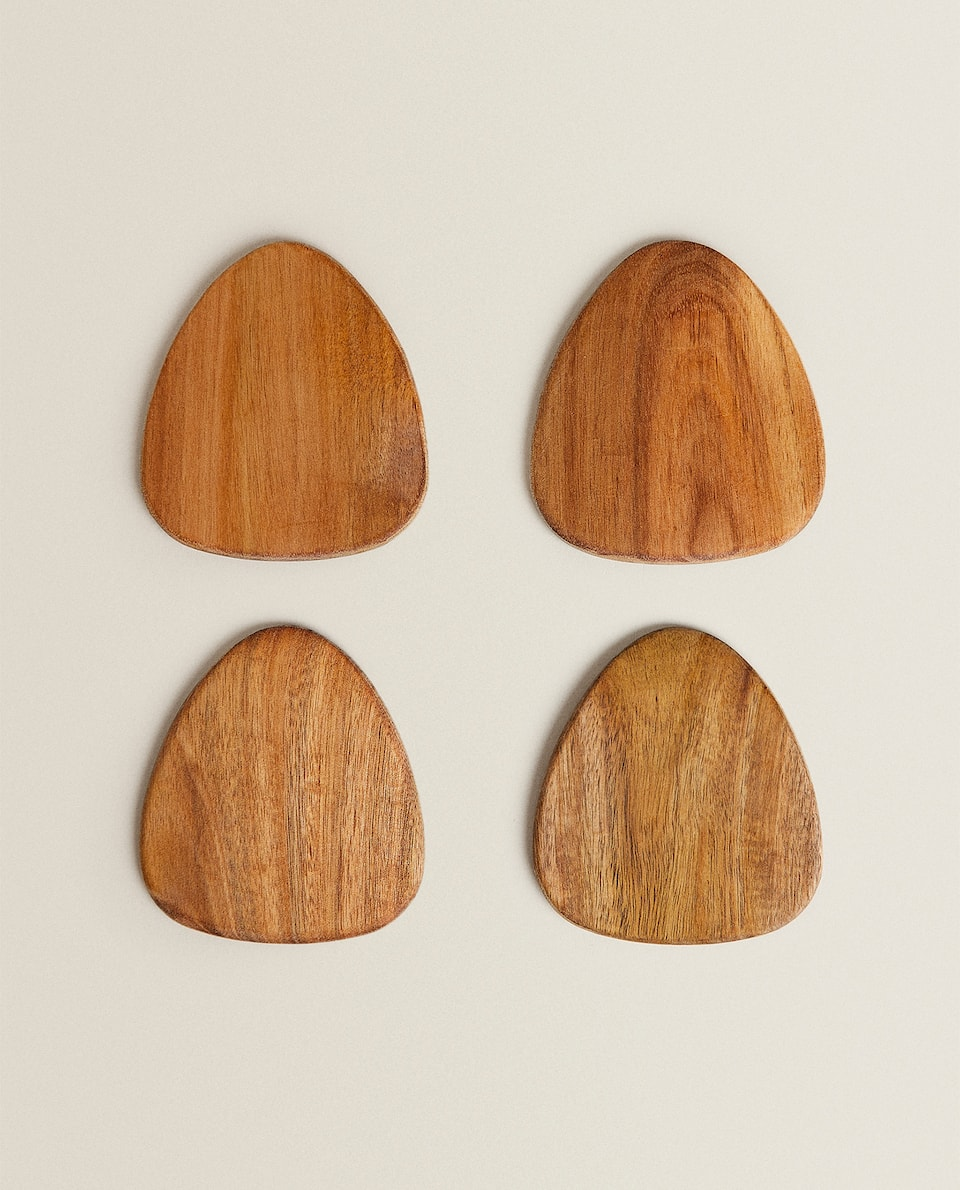 ACACIA WOOD COASTERS (PACK OF 4)