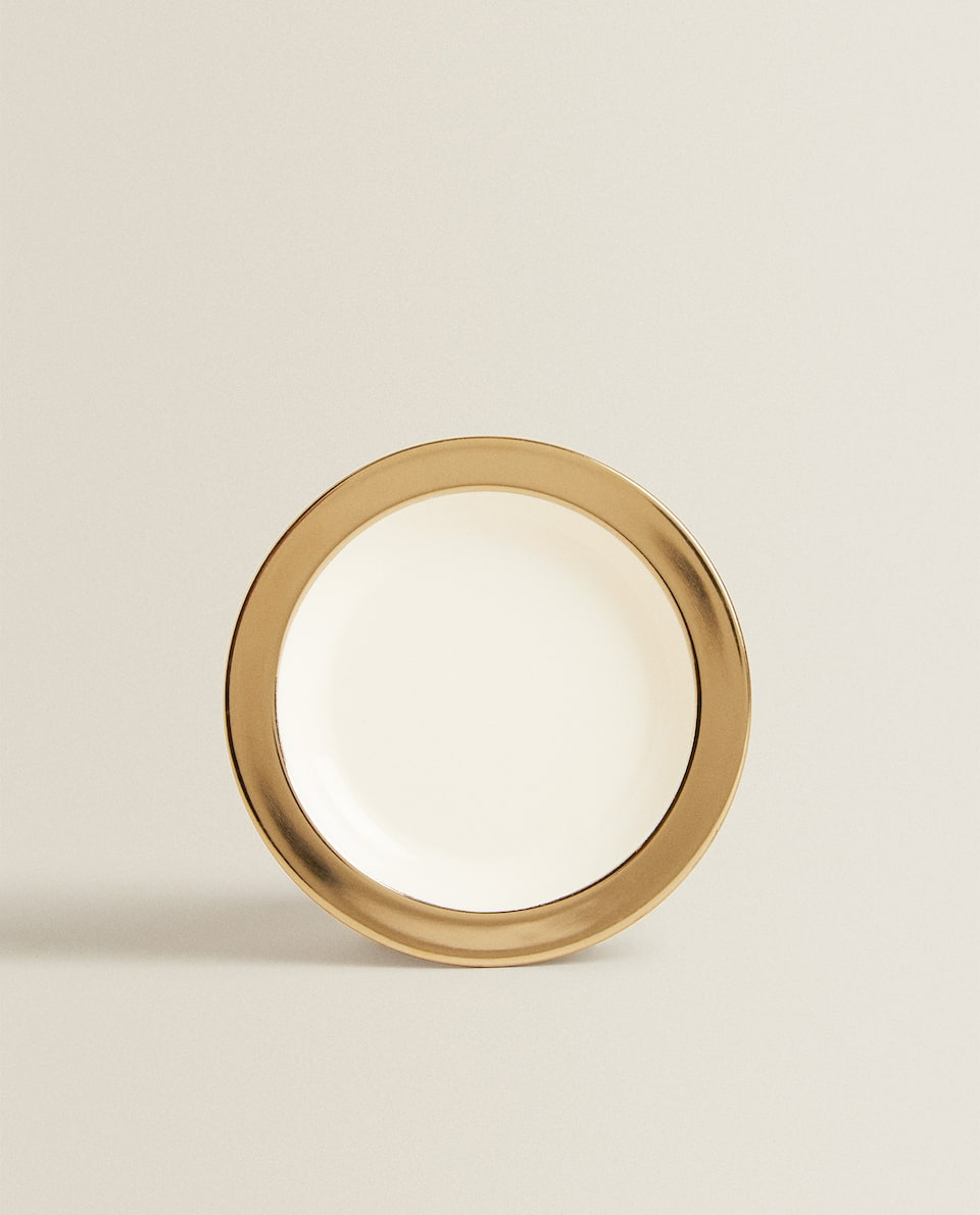 GOLD RIM LACQUERED COASTER