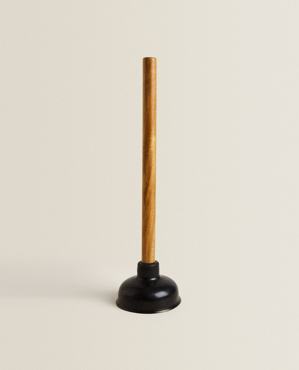 WOOD AND RUBBER PLUNGER