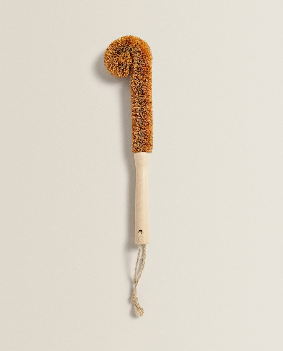 COCONUT FIBRE BRUSH FOR GLASSWARE