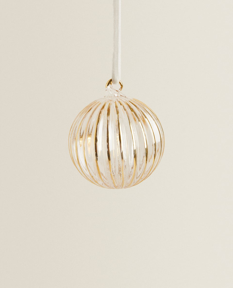 STRIPED CHRISTMAS BAUBLE