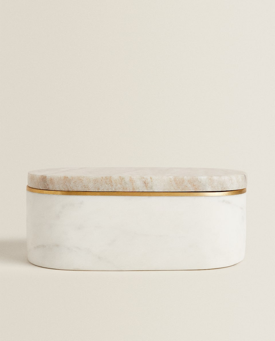 TWO-TONE MARBLE-EFFECT BOX