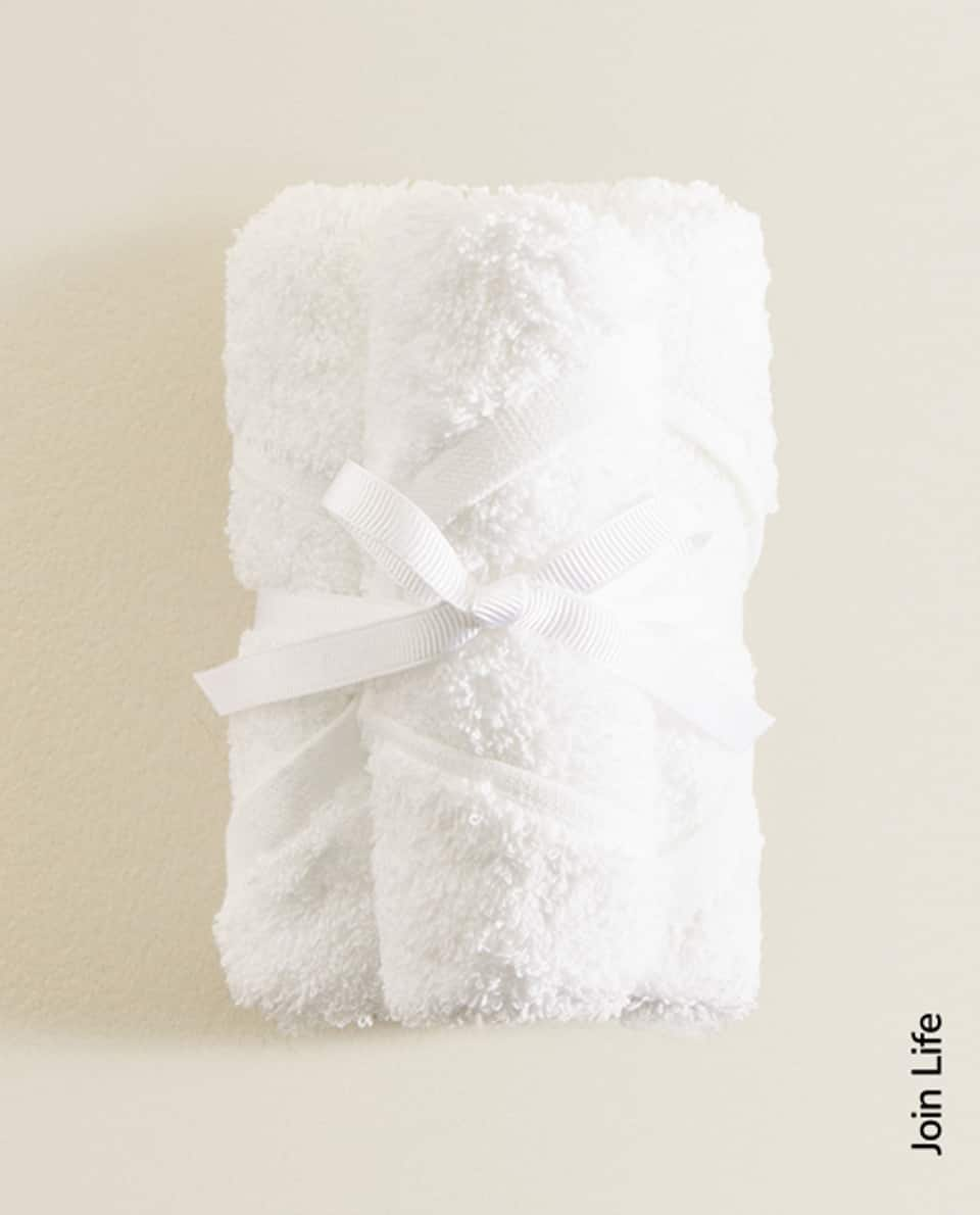 ECOLOGICALLY GROWN COTTON TOWEL (PACK OF 3)