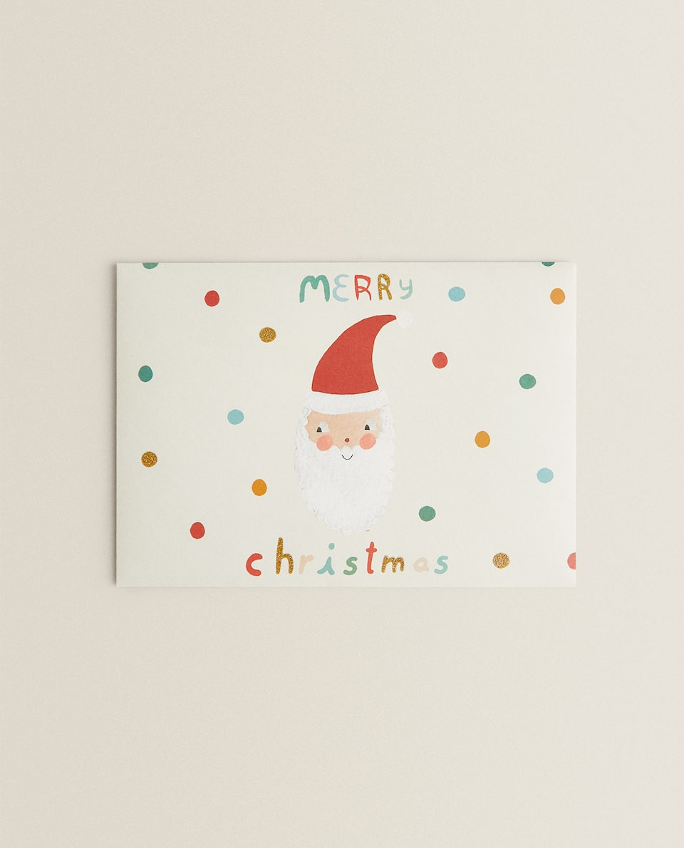 MERRY CHRISTMAS SANTA CLAUS CARD