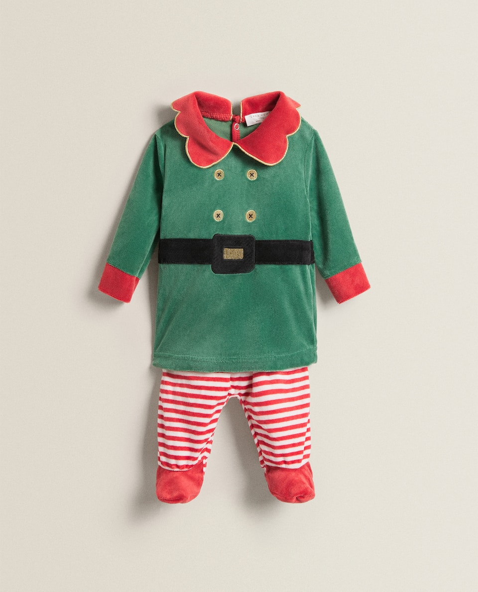 COTTON ELF BABY SET