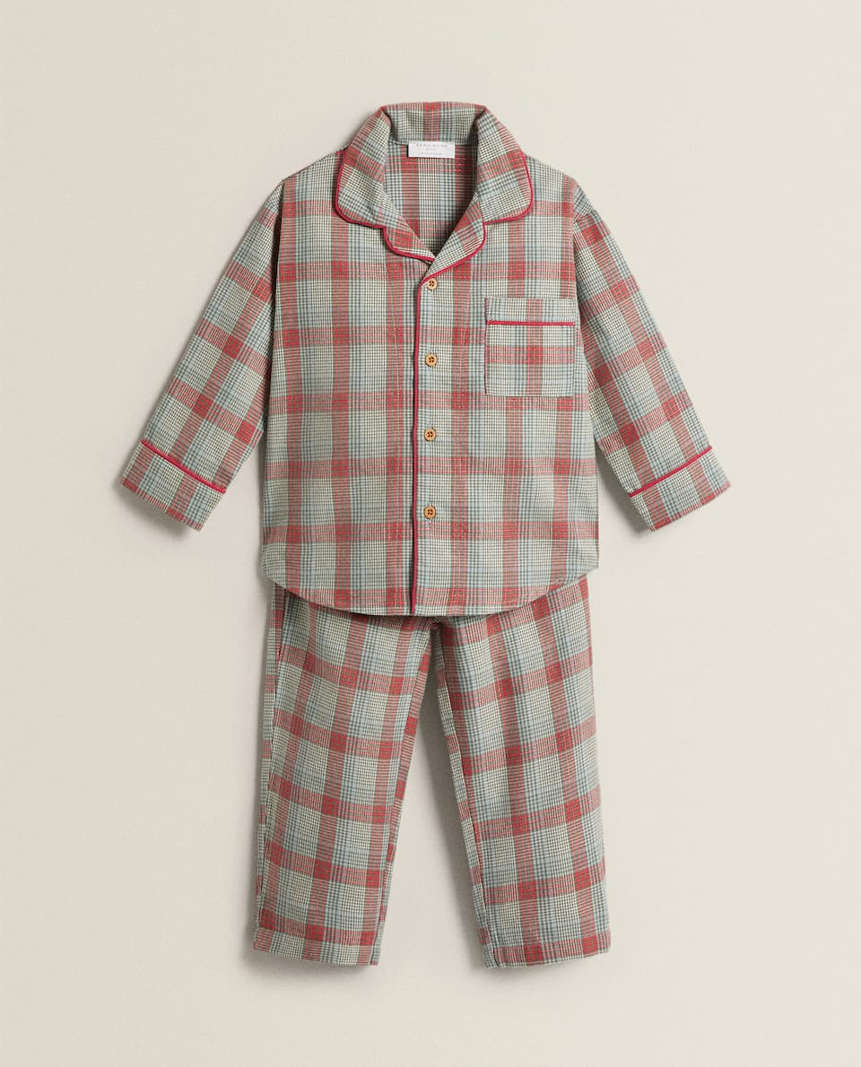 SET OF CHECK PYJAMAS