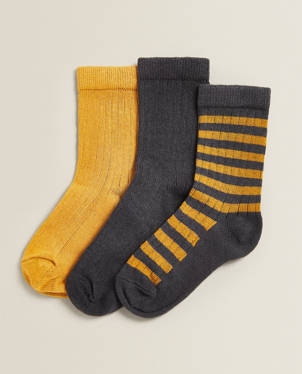 STRIPED SOCKS (PACK OF 3)
