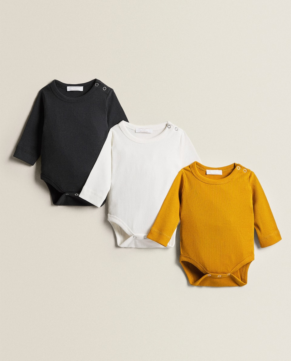 COTTON BODYSUITS (PACK OF 3)