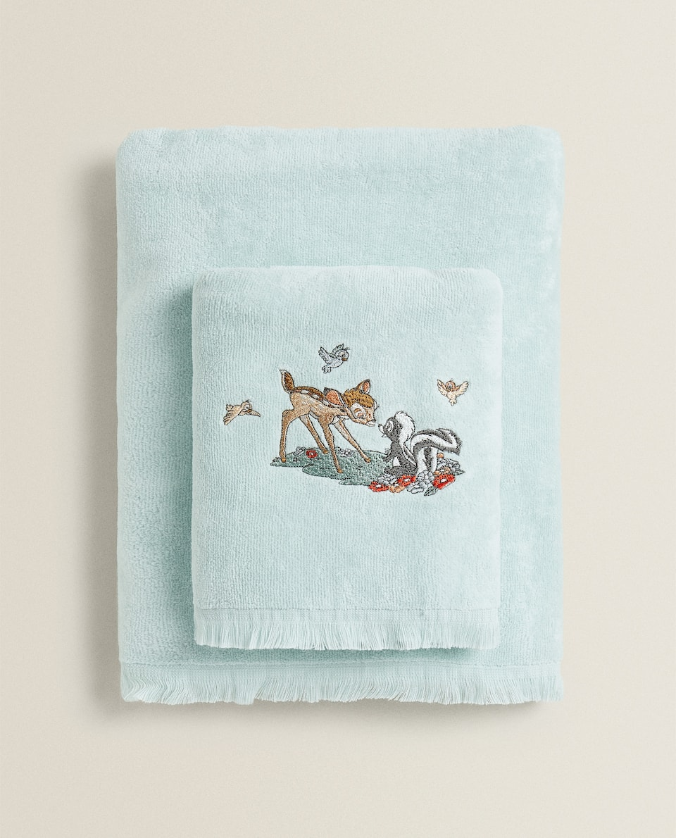 COTTON TOWEL WITH BAMBI DESIGN