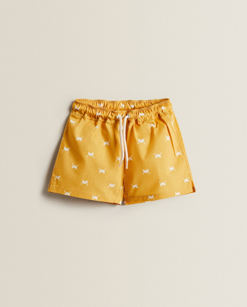 CRAB PRINT SWIMMING TRUNKS