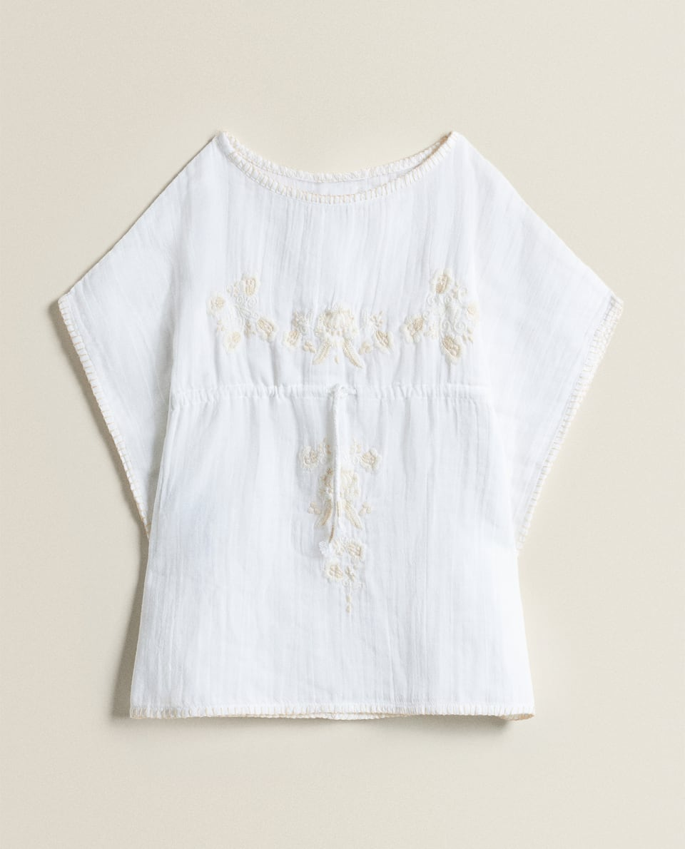 COTTON TUNIC WITH EMBROIDERY